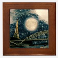 one starry night on paris Framed Tile