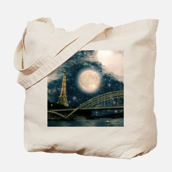 one starry night on paris Tote Bag