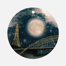 one starry night on paris Round Ornament