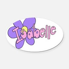 ISABELLE Oval Car Magnet