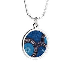 aboriginal Silver Round Necklace