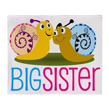 Big Sister Snail Throw Blanket