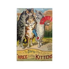Three Little Kittens Lost Their M Rectangle Magnet
