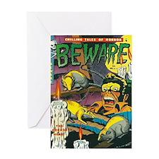 Cover of Beware No 11 Greeting Card