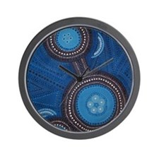 aboriginal vertical Wall Clock