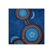 "aboriginal vertical Square Sticker 3"" x 3"""