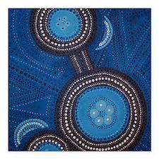 """aboriginal vertical Square Car Magnet 3"""" x 3"""""""