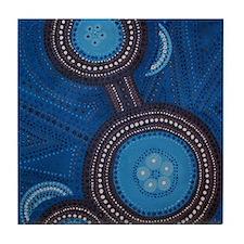 aboriginal vertical Tile Coaster