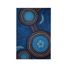 aboriginal vertical Rectangle Magnet