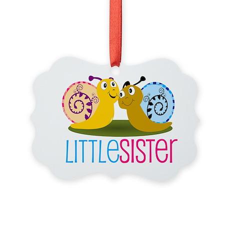 Little Sister Snail Picture Ornament