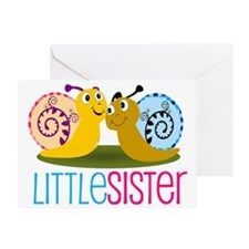 Little Sister Snail Greeting Card