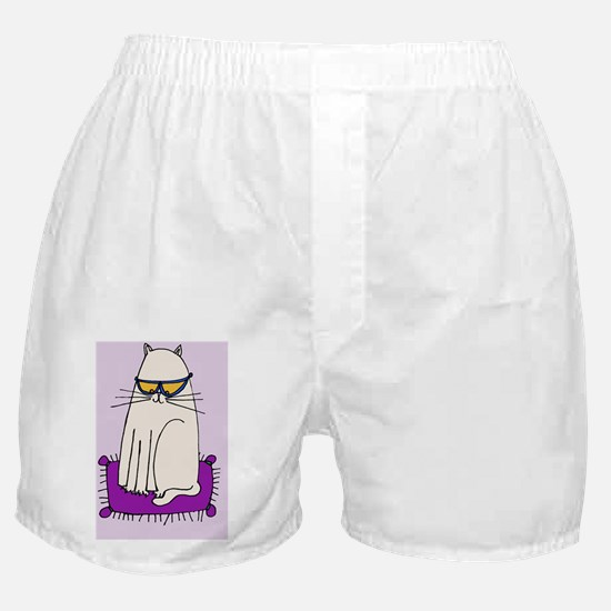 Morrissey the Cat with glasses Boxer Shorts