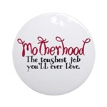 Motherhood Ornament (Round)