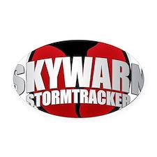 Skywarn Storm Tracker Oval Car Magnet