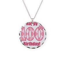 Happy 100th Birthday - Pink  Necklace