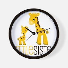 Little Sister Giraffe Wall Clock