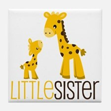 Little Sister Giraffe Tile Coaster