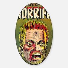 Horrific No 3 Sticker (Oval)