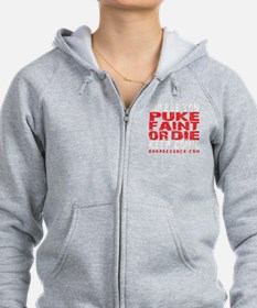 PUKE FAINT OR DIE - BLACK Zip Hoodie