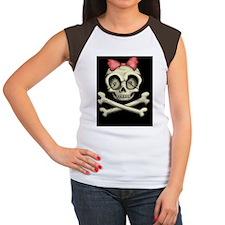betty-bones-OV Women's Cap Sleeve T-Shirt