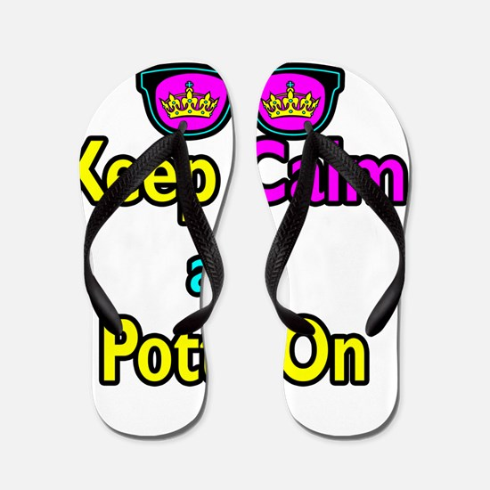 Crown Sunglasses Keep Calm And Potty On Flip Flops