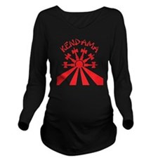 red Kendama Sun b Long Sleeve Maternity T-Shirt