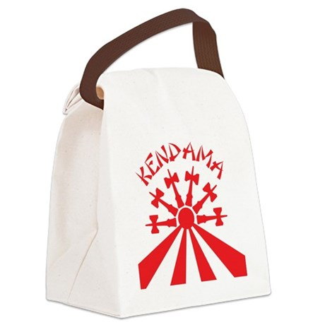 red Kendama Sun b Canvas Lunch Bag