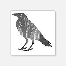 "Forest Raven Silhouette Square Sticker 3"" x 3"""