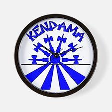 blue Kendama Sun Wall Clock
