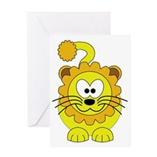 Happy Lion Greeting Card