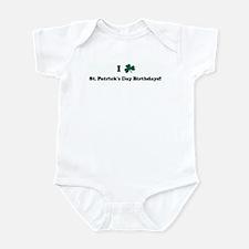 I Shamrock St. Patrick's Day  Infant Bodysuit
