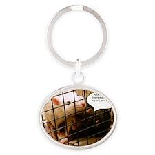 Rat Gag Oval Keychain