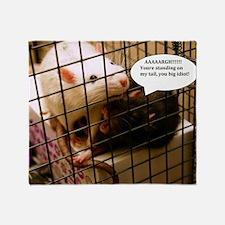 Rat Gag Throw Blanket