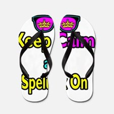 Crown Sunglasses Keep Calm And Spelunk  Flip Flops