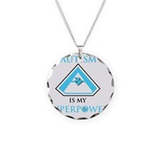 SuperHeroPowerAutism Necklace Circle Charm