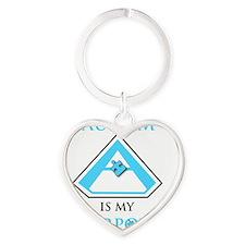 SuperHeroPowerAutism Heart Keychain