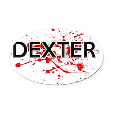 Dexter Oval Car Magnet