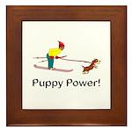 Puppy Power Framed Tile