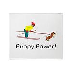 Puppy Power Throw Blanket