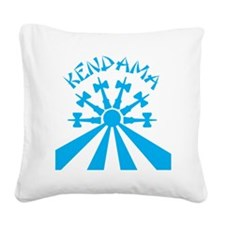 blue Kendama Sun b Square Canvas Pillow