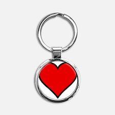 Love Heart Round Keychain
