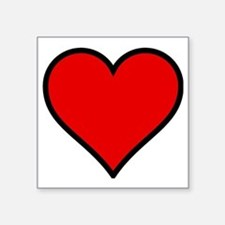"Love Heart Square Sticker 3"" x 3"""