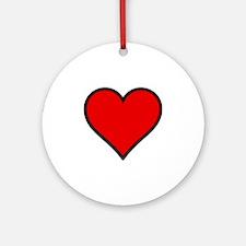 Love Heart Round Ornament