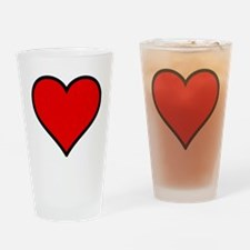 Love Heart Drinking Glass