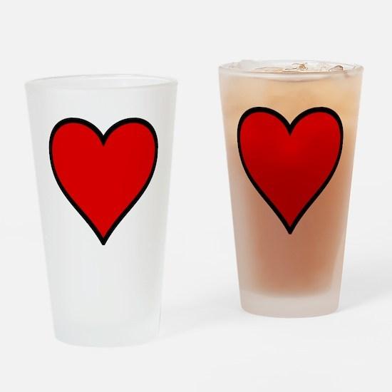 Love Heart Drinking Glass