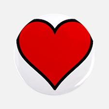 "Love Heart 3.5"" Button"