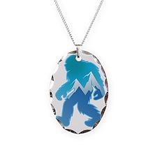 Yeti Mountain Scene Necklace
