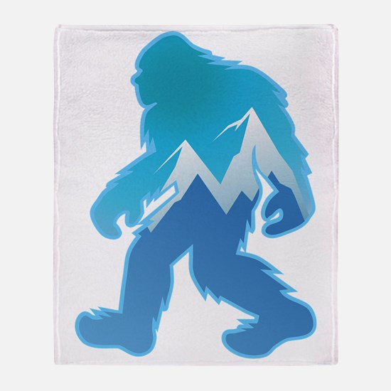 Yeti Mountain Scene Throw Blanket