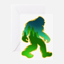 Sasquatch Forest Scene Greeting Card