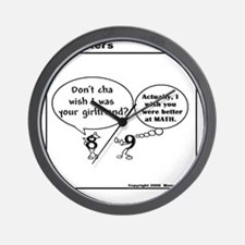 DON'T CHA WISH YOU KNEW MATH LIKE ME? Wall Clock